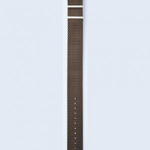 Herringbone Twill strap - tobacco-brown